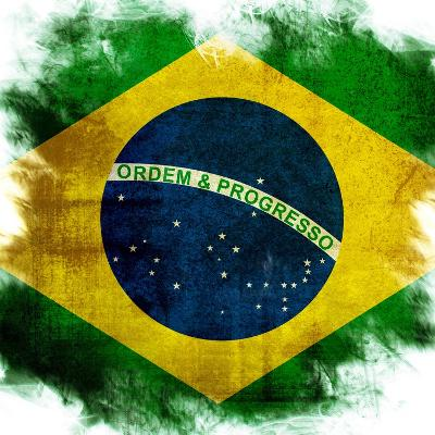 Flag Of Brazil-ilolab-Art Print