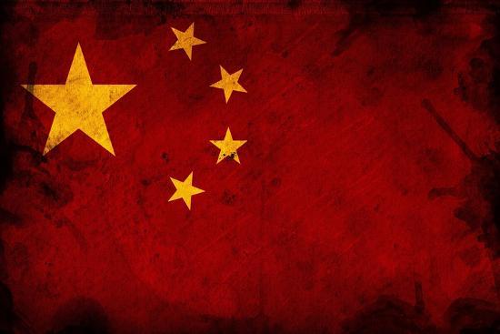 Flag Of China-igor stevanovic-Art Print