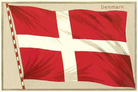 Flag of Denmark--Art Print