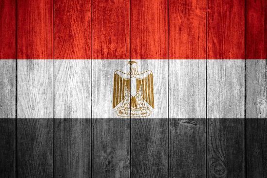 Flag Of Egypt-Miro Novak-Art Print