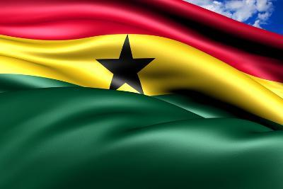 Flag Of Ghana-Yuinai-Art Print