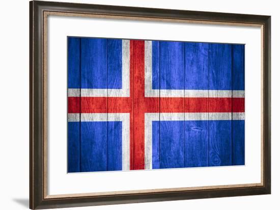 Flag Of Iceland-Miro Novak-Framed Art Print