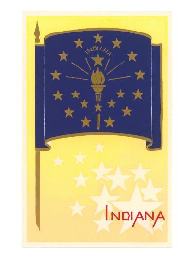 Flag of Indiana--Art Print