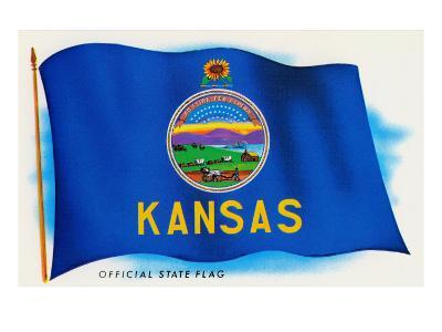 Flag of Kansas--Art Print