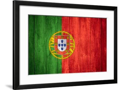 Flag Of Portugal-Miro Novak-Framed Art Print