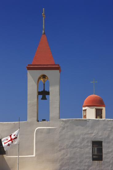 Flag of the Knights Templar at St. John's Church in Akko-Jon Hicks-Photographic Print
