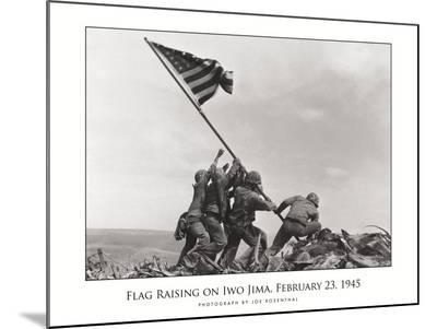 Flag Raising on Iwo Jima, c.1945-Joe Rosenthal-Mounted Print