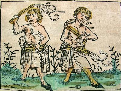 Flagellants, Published in the Nuremberg Chronicle, 1493--Giclee Print