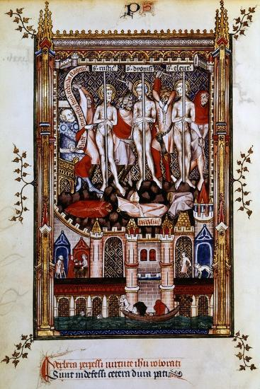 Flagellation of St Denis, St Rustic and St Eleutherius, 1317--Giclee Print