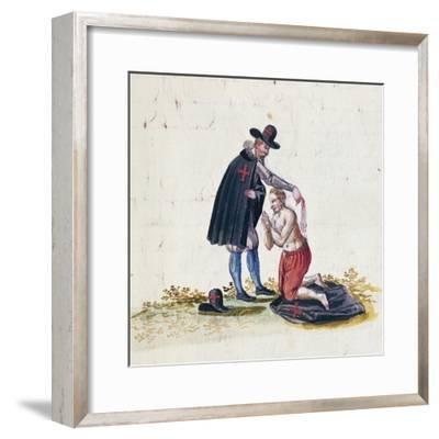 Flagellation Scene--Framed Giclee Print