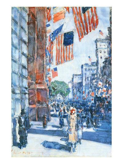 Flags, Fifth Avenue-Childe Hassam-Art Print