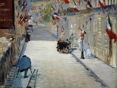 Flags in Mosnier Street-Edouard Manet-Giclee Print
