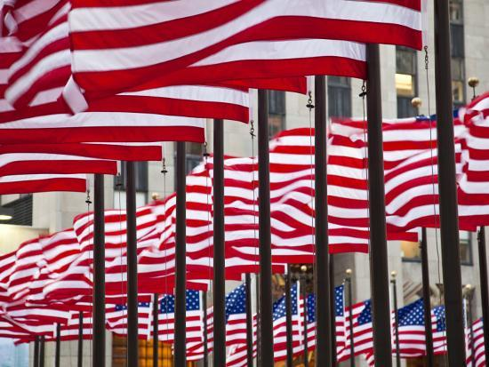 Flags in Rockefeller Square-Richard l'Anson-Photographic Print