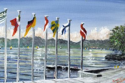 Flags on Lac Leman, 2010-Vincent Alexander Booth-Giclee Print