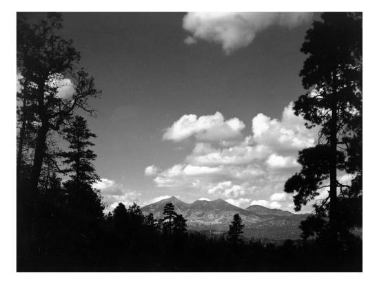 Flagstaff, Arizona - View of San Francisco Peaks-Lantern Press-Art Print