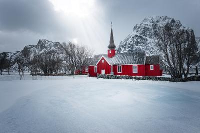Flakstad Church-Philippe Sainte-Laudy-Photographic Print