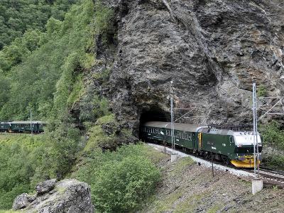 Flam Railway, Flam, Sogn Og Fjordane, Norway, Scandinavia, Europe-Hans Peter Merten-Photographic Print