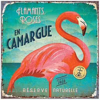 Flamants en Camargue-Bruno Pozzo-Art Print