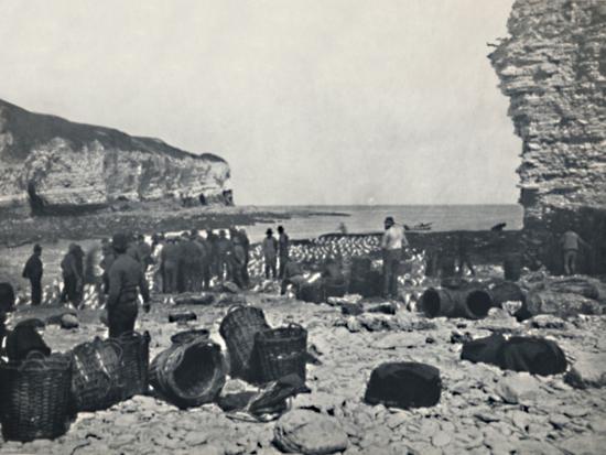 'Flamborough - The Fishermen at Work', 1895-Unknown-Photographic Print