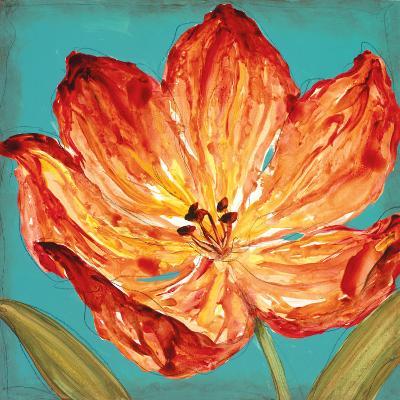 Flame Tulip II-Karen Leibrick-Art Print