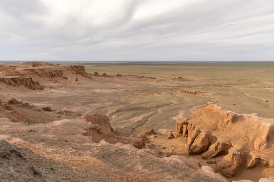 Flaming cliffs, Bajanzag, South Gobi province, Mongolia, Central Asia, Asia-Francesco Vaninetti-Photographic Print