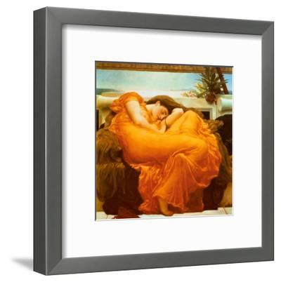 Flaming June, c.1895-Frederick Leighton-Framed Art Print