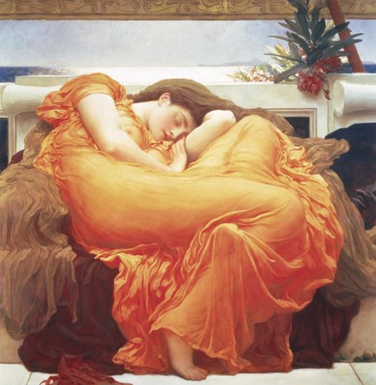 Flaming June-Frederick Leighton-Art Print