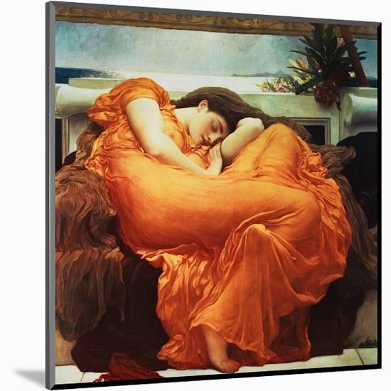 Flaming June-Frederick Leighton-Mounted Giclee Print