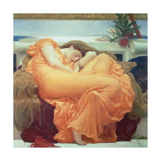 Flaming June-Frederick Leighton-Premium Giclee Print