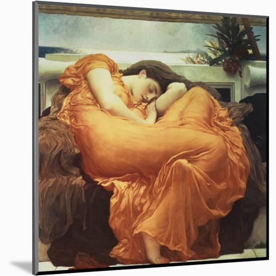 Flaming June-Frederick Leighton-Mounted Art Print