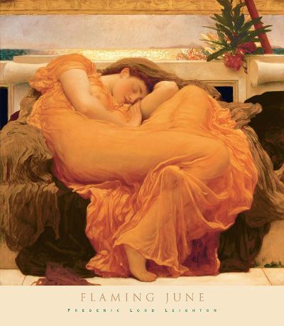 Flaming June-Frederic Leighton-Art Print