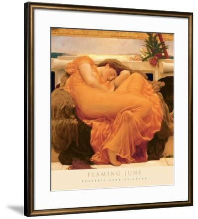 Flaming June-Frederic Leighton-Framed Art Print