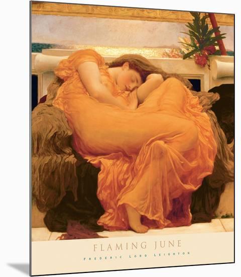 Flaming June-Frederic Leighton-Mounted Art Print