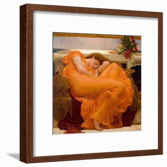 Flaming June-Frederic Leighton-Framed Art Print