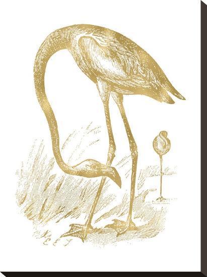 Flamingo 1 Golden White-Amy Brinkman-Stretched Canvas Print