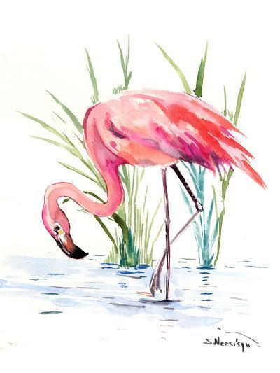 Flamingo 4-Suren Nersisyan-Art Print