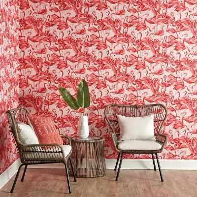 Flamingo Cheeky Pink Self-Adhesive Wallpaper--Home Accessories