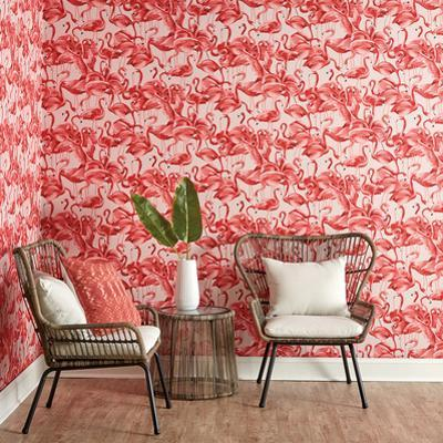 Flamingo Cheeky Pink Self-Adhesive Wallpaper