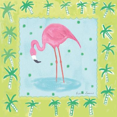 Flamingo Dance III-Farida Zaman-Art Print