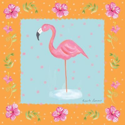 Flamingo Dance IV-Farida Zaman-Art Print