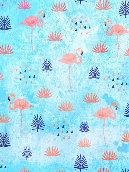 Flamingo Dance-Kimberly Allen-Art Print