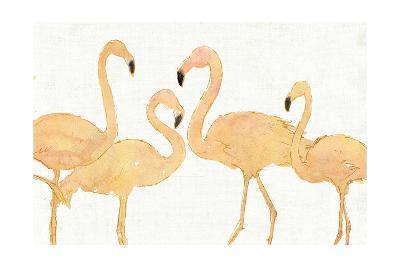 Flamingo Fever I no Splatter Gold-Anne Tavoletti-Art Print