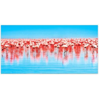 Flamingo Flock - Free Floating Tempered Glass Wall Art