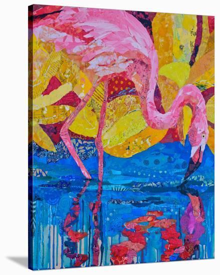 Flamingo I--Stretched Canvas Print