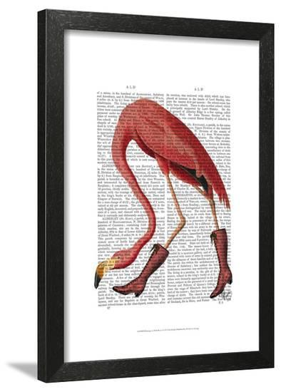 Flamingo in Pink Boots-Fab Funky-Framed Art Print