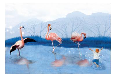 Flamingo Lesson-Nancy Tillman-Art Print
