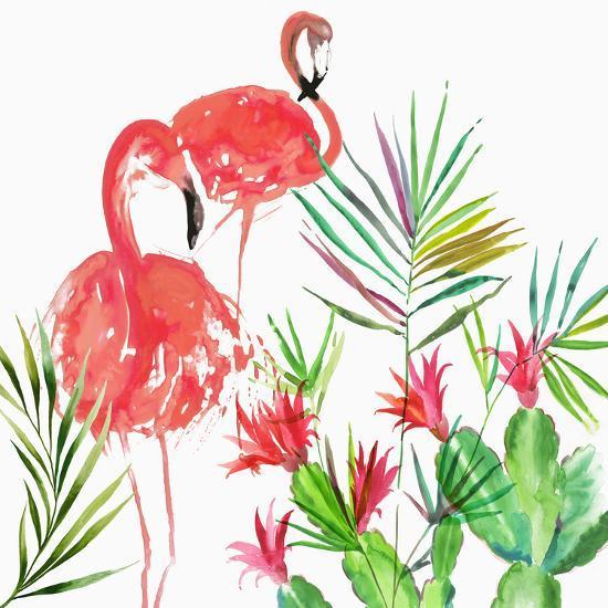 Flamingo Pairing-PI Creative Art-Giclee Print
