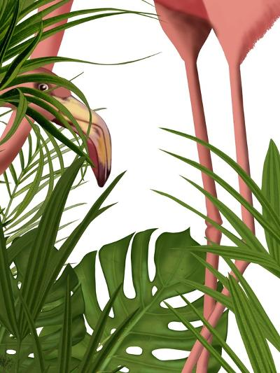 Flamingo Peering-Fab Funky-Art Print