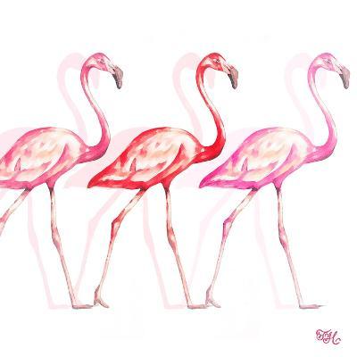 Flamingo Trio I-Tiffany Hakimipour-Art Print