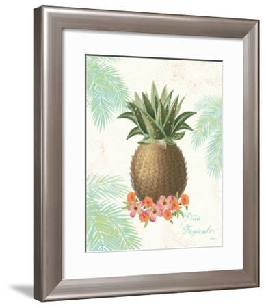 Flamingo Tropicale IV-Sue Schlabach-Framed Art Print